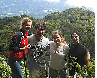 On the way to the top of Panama's highest point