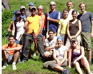 Group from Habla Ya hiking to the top of the Volcan Baru