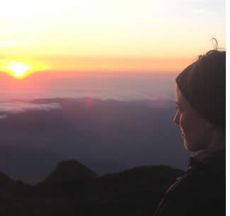 Sunrise from the top of the Volcan Baru in the province of Chiriqui, Panama