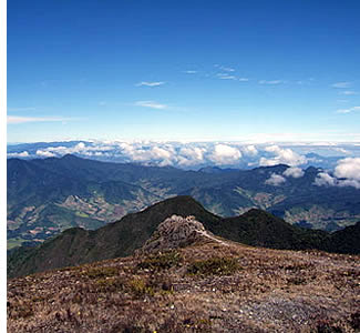On a clear day you can view the oceans from the top of the Volcan Baru